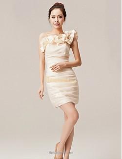 Sexy Sheath Column Short Bridesmaid Dress Nz One Shoulder Zipper Back