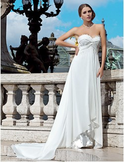 Nz Bride® Sheath Column Petite Plus Sizes Dresses Wedding Dress Chic Modern See Through Wedding Dresses Court Train Sweetheart