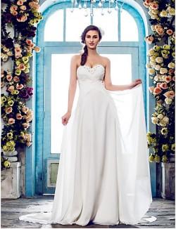 Nz Bride® A Line Petite Plus Sizes Dresses Wedding Dress Classic Timeless Elegant Luxurious Fall 2013 Spring 2014Sweep Brush