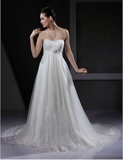 Nz Bride® Linha A Princesa Pequeno Tamanhos Grandes Vestido De Noiva Chique E Moderno Glamouroso E DramáticoInspiração