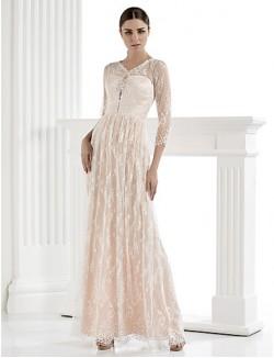 Nz Bride® Sheath Column Petite Plus Sizes Dresses Wedding Dress See Through Wedding Dresses Wedding Dresses In Color Long Floor Length
