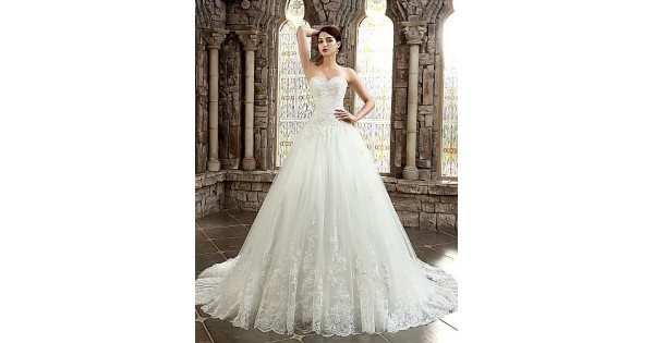 A-line Petite Plus Sizes Dresses Wedding Dress Classic