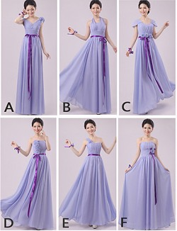 Long Floor Length Chiffon Bridesmaid Dress Sheath Column Halter Sexy One Shoulder Strapless Sweetheart V Neck Straps With