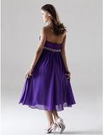 Short Knee Length Chiffon Charmeuse Bridesmaid Dress A Line Princess Halter Sweetheart Plus Size Petite WithBeading Crystal Detailing