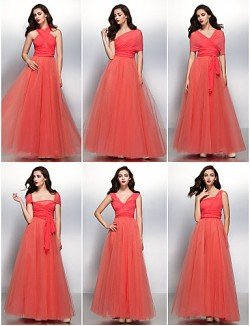 New Zealand Cocktail Party Dresses New Zealand Formal Evening Dress A Line V Neck Long Floor Length Chiffon Tulle With