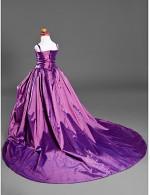 Ball Gown Court Train Flower Girl Dress Satin Taffeta Sleeveless Spaghetti Straps WithAppliques Draping Flower