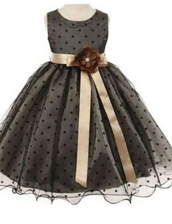 Ball Gown Short Knee Length Flower Girl Dress Lace Sleeveless Jewel With Flower Lace Sash Ribbon