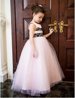 New Zealand Formal Evening Dress Wedding Party Dresses Vacation Dress A Line Jewel Ankle Length Lace Satin Tulle With