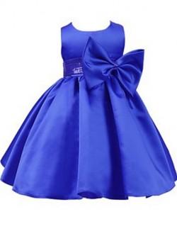Ball Gown Short Knee Length Flower Girl Dress Jersey Sleeveless Jewel With Bow Sash Ribbon