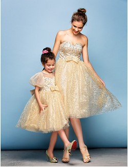 New Zealand Cocktail Party Dress Plus Size Petite Ball Gown Sweetheart Short Knee Length Sequined With Beading Bow Sequins