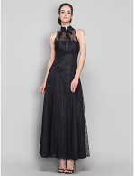New Zealand Formal Evening Dress Military Ball Company Party Dresses Family Gathering Dress Vintage Inspired Plus Size Petite A Line High Neck