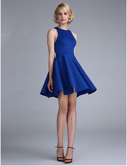 New Zealand Cocktail Party Dresses Prom Dress Plus Size Petite A Line Princess Jewel Short Mini Jersey With