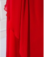 Prom Gowns New Zealand Formal Evening Dress Military Ball Dress Plus Size Petite Sheath Column Off The Shoulder Long Floor Length Chiffon WithSide Draping