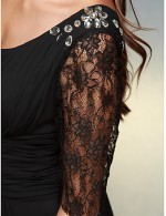 New Zealand Formal Evening Dress A Line Scoop Long Floor Length Chiffon Lace With Lace