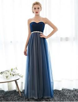 New Zealand Formal Evening Dress Sheath Column Sweetheart Long Floor Length Chiffon Tulle With Crystal Detailing