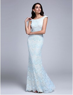 New Zealand Formal Evening Dress Sheath Column Off The Shoulder Long Floor Length Lace Dress With