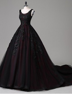 New Zealand Formal Evening Dress A Line Scoop Cathedral Train Lace Tulle With Appliques Beading Lace Pearl Detailing