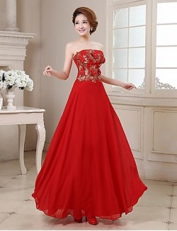 New Zealand Formal Evening Dress A Line Strapless Long Floor Length Satin With Crystal Detailing Embroidery Flower Sequins