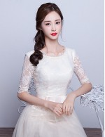 2017 New Zealand Formal Evening Dress A Line Scoop Tea Length Lace Tulle With Bow