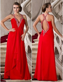 Prom Gowns New Zealand Formal Evening Dress Military Ball Dress Beautiful Back Plus Size Petite A Line Princess V Neck Straps Long Floor Length Chiffon