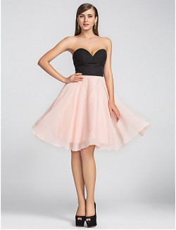 New Zealand Cocktail Party Dresses Homecoming Wedding Party Dress Short Plus Size Petite A Line Sweetheart Short Knee Length Chiffon With