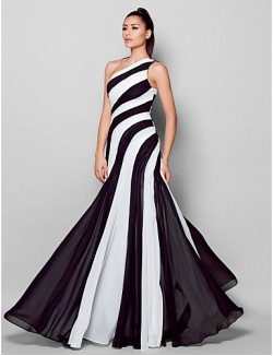 New Zealand Formal Evening Dress Plus Size Petite Sheath Column Sexy One Shoulder Long Floor Length Chiffon With Side Draping