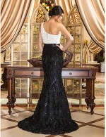 New Zealand Formal Evening Dress Vintage Inspired Elegant Plus Size Petite Trumpet Mermaid Sexy One Shoulder Court Train Lace With Flower Lace