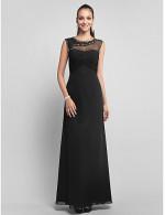 Prom Gowns New Zealand Formal Evening Dress Military Ball Dress Elegant Plus Size Petite Sheath Column Jewel Long Floor Length Chiffon Tulle With Beading