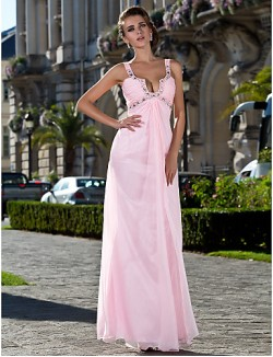 Prom Gowns New Zealand Formal Evening Dress Military Ball Dress Sexy Plus Size Petite Sheath Column Straps Long Floor Length Chiffon With Beading Side