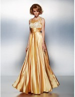 New Zealand Formal Evening Dress Plus Size Petite A Line Scoop Long Floor Length Stretch Satin With Appliques Ruching