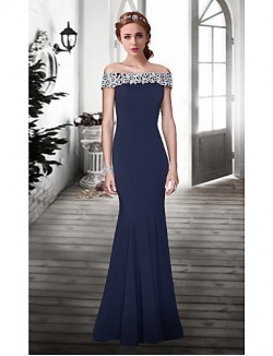 New Zealand Formal Evening Dress Trumpet Mermaid Off The Shoulder Long Floor Length Lace Dress With Lace