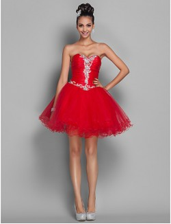 New Zealand Cocktail Party Dresses Homecoming Prom Gowns Holiday Dress Open Back Plus Size Petite A Line Princess Sweetheart Short Mini Organza