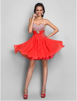 New Zealand Cocktail Party Dresses Homecoming Prom Gowns Sweet 16 Dress Short Plus Size Petite A Line Princess Strapless Sweetheart Short Mini