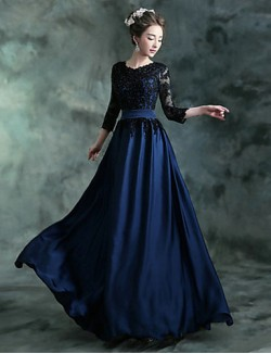 New Zealand Formal Evening Dress A Line Jewel Long Floor Length Chiffon Satin With Appliques Crystal Detailing Draping