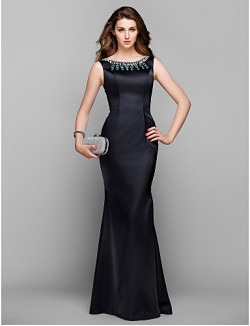 Prom Gowns New Zealand Formal Evening Dress Military Ball Dress Vintage Inspired Elegant Plus Size Petite Trumpet Mermaid Jewel Long Floor LengthStretch