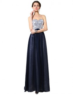 New Zealand Formal Evening Dress A Line Sweetheart Long Floor Length Chiffon With