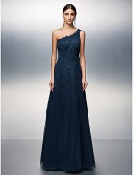 Prom Gowns New Zealand Formal Evening Dress Black Tie Gala Dress Plus Size Petite A Line Sexy One Shoulder Long Floor Length Tulle Dress With Appliques