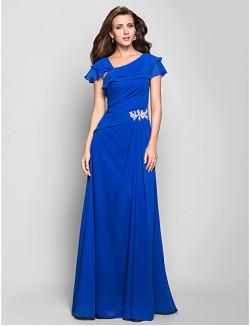 New Zealand Formal Evening Dress Military Ball Dress Ocean Blue Plus Sizes Dresses Petite A Line Square Long Floor Length Chiffon