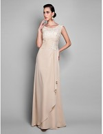 Prom Gowns New Zealand Formal Evening Dress Military Ball Dress Sexy Elegant Plus Size Petite Sheath Column Jewel Long Floor Length Chiffon With Lace