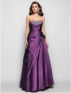Prom Gowns New Zealand Formal Evening Dress Military Ball Dress Open Back Plus Size Petite A Line Princess Strapless Long Floor Length Taffeta With Beading