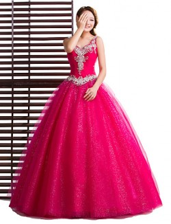 New Zealand Formal Evening Dress Ball Gown V Neck Long Floor Length Tulle Dress With Crystal Detailing