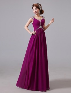 Prom Gowns New Zealand Formal Evening Dress A Line Jewel Long Floor Length Chiffon With Beading Crystal Detailing Side Draping Sequins