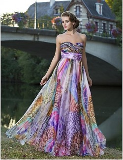 Prom Gowns New Zealand Formal Evening Dress Floral Plus Size Petite Sheath Column Strapless Sweetheart Long Floor Length Chiffon With Flower