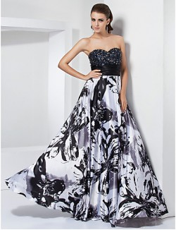 Prom Gowns New Zealand Formal Evening Dress Military Ball Dress Floral Elegant Plus Size Petite A Line Princess Strapless Sweetheart Long Floor Length