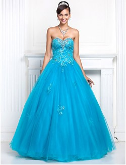 Prom Gowns New Zealand Formal Evening Dress Quinceanera Sweet 16 Dress Open Back Plus Size Petite A Line Princess Strapless Sweetheart Long Floor Length