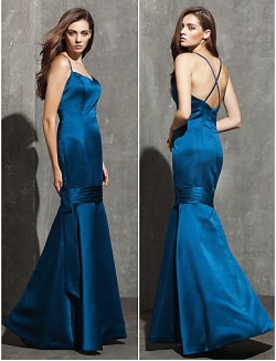 New Zealand Formal Evening Dress Plus Size Petite Fit Flare Sweetheart Spaghetti Straps Long Floor Length Satin With