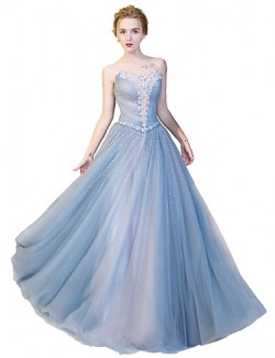 New Zealand Formal Evening Dress Ball Gown Strapless Long Floor Length Satin Tulle Stretch Satin With Crystal Detailing