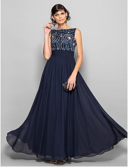 Prom Gowns New Zealand Formal Evening Dress Military Ball Dress Sparkle Shine Elegant Plus Size Petite A Line Scoop Long Floor Length Chiffon With Beading