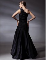 Prom Gowns New Zealand Formal Evening Dress Elegant Plus Size Petite Trumpet Mermaid Sexy One Shoulder Long Floor Length Taffeta With Side Draping