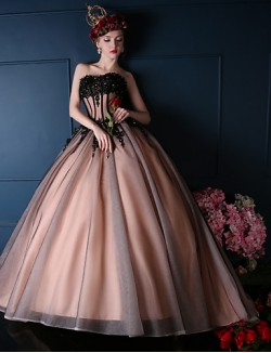New Zealand Formal Evening Dress Ball Gown Sweetheart Court Train Lace Tulle Charmeuse With Beading Lace Sequins